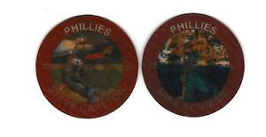 1985 Slurpee Discs Philadelphia Phillies Mike Schmidt & Steve Carlton