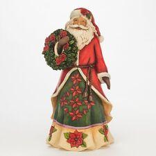 Jim Shore Heartwood Creek 4046762 Flowering Festivity - Poinsettia Santa
