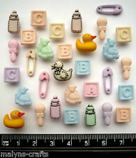 TINY BABY Craft Buttons 1ST CLASS POST Toy Nursery Duck Small DRESS IT UP ABC