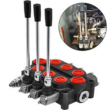 3 Spool 25 GPM Hydraulic Control Valve Tractors loaders Double Acting