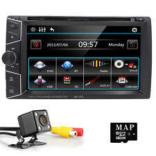 "HD 2 Din 6.2"" Navi Car Stereo DVD MP3 GPS Player Bluetooth Ipod TV Radio+Camera"