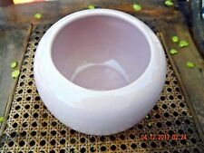 Vintage 1960's McCoy Pottery RARE Pink Glossy 404 USA Vase/Rose Bow-Mid Century