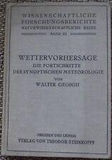 Wissenschaftliche Forschungsberichte Wettervorhersage Synoptik Meteorologie -L