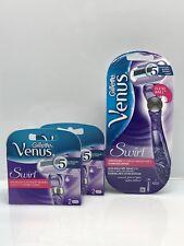 Gillette Venus Swirl Flexiball Rasierer + 5 Venus Swirl Klingen Set