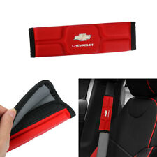 x 2 Leather Memory foam Car Seat Belt Covers Shoulder Pads Cushion For CHEVROLET