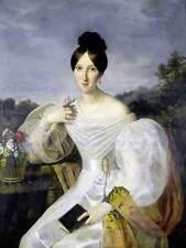 PAINTING PORTRAIT STUDY WALDMUELLER LADY WHITE DRESS ART PRINT POSTER LAH288