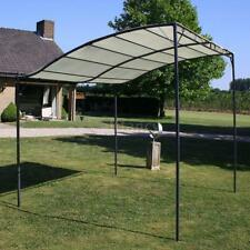 Gazebo Fabric Cream Outdoor Garden Canopy Shelter Tent Carport White V5I4