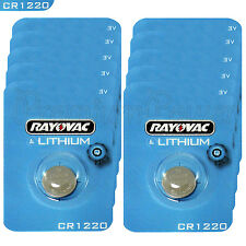 10 x Rayovac Lithium CR1220 batteries 3V Coin Cell KRC1220 BR1220