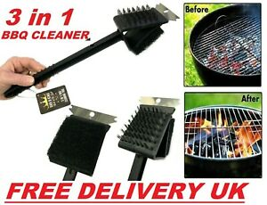 🔥 Heavy Duty Barbecue BBQ Wire Cleaning Brush & Scraper Grill Oven Cleaner Tool