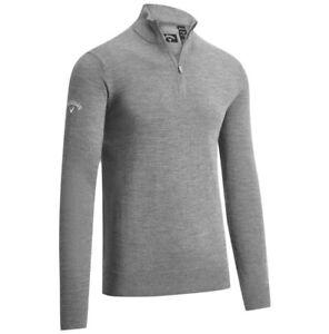 Callaway 1/4 Zip Merino Wool Golf Sweater - Dark Granate Heather