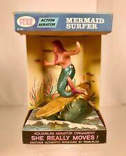New listing Vintage Penn Plax Mermaid Surfer Aquarium Decoration Ornament Mib Pet Store Toy