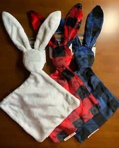 Blankets Beyond Bunny Rabbit Shaped Security Blanket Choice of Color Plaids New
