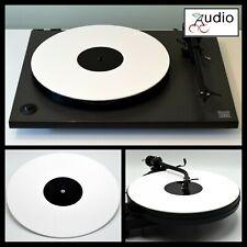 Acrylique Blanc brillant pour Platine Platter Mat. Convient REGA, Pro-Ject Record Player