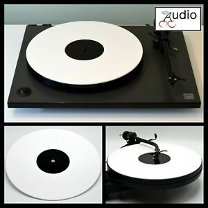 Gloss White Acrylic Turntable Platter Mat. Fits REGA, PRO-JECT Record Player