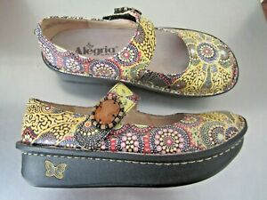 ALEGRIA Pal Mary Jane Funky Comfort  Leather Shoes Size 36 As NEW. $175