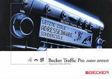 Prospekt Becker Traffic Pro High Speed 5 2003 brochure Autoradio Navigation