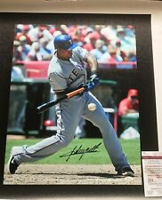 ADRIAN BELTRE  TEXAS RANGERS  JSA AUTHENTICATED  ACTION SIGNED 20x24 CANVAS