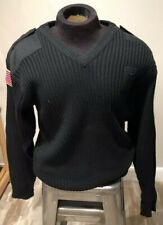 National Patrol Security Services Knit Black Sweater Mens Big & Tall Sz 2XL