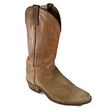 Vintage ACME Two-tone Leather Suede Authentic COWBOY BOOTS Men's Size 10.5 D