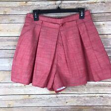 d10cd5dad1 Southern Proper Sarah Skort para Mujer 100% Algodón Chambray Plisado  Pantalones Cortos Rojo 8