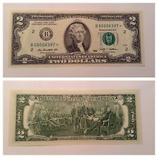 VINTAGE 2009 STAR $2 TWO DOLLAR FEDERAL RESERVE NOTE FRN NEW YORK B GREEN BILL