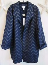 NWOT $129 CHICO'S TRAVELERS COLLECTION CHEVRON JACKET, 3 (XL)