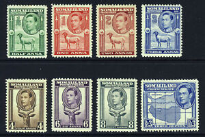 SOMALILAND PROTECTORATE KG VI 1938 Half Face Part Set to 3R SG 93 to SG 103 MINT