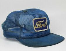Vintage 70's Blue Ford Snapback Mesh Trucker Hat Cap