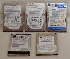"""Joblot 5x Laptop 2.5"""" unità SATA HDD 750GB 320GB 160GB PATA HDD difettoso 60GB (242"""