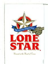 "Single Wide Playing Card, ""Lone Star"", The National Beer of Texas, Wide"