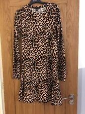 New Look Tall Leopard Print Fit And Flare Dress  Size 10 Tall *Worn once*