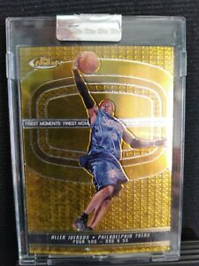 """2005/06 Topps finest """"Finest Moments"""" Allen Iverson Encapsulated A13 010/399"""