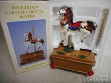 FOUR SEASONS CAROUSEL HORSE MUSICAL WINTER BRAND NEW