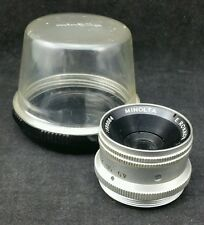 Minolta E.Rokkor 1:4.5 f=50mm Lens With Case, Screw Fitting, Serial no 1226884