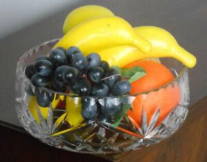 GOOD VINTAGE DEEP CUT CRYSTAL GLASS FRUIT BOWL