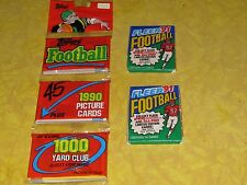 RARE-COLLECTIBLE~UNSEARCHED-FOOTBALL ROOKIE CARDS?~3TOPPS1990/2-FLEER 1991 PACKS