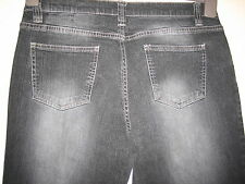 N64) WOMENS NEXT STRAIGHT BOOTCUT BLACK JEANS ZIP FLY  SIZE 14 LONG  LEG 28