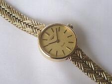 Ladies' vintage 9ct yellow gold Longines quartz wristwatch in working order