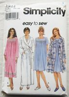 Robe & Nightgown Sewing Pattern*Simplicity 7944*Sizes 18w-24w*UNCUT/FF*PLUS SIZE