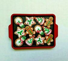"Mini Holiday Baking Tray & Faux Iced Cutout Cookies for 18"" American Girl Dolls"