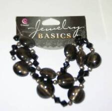 COUSIN JEWELRY BASICS 52 Pc Glass Metal Dk Gray Black Beads Spacers Mix