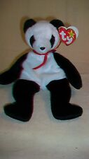 Fortune the Panda Bear Ty Beanie Baby DOB12/6/1997 2 errors Tush Tag Date