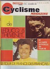 1975 l'equipe cyclisme n°96  DE LEDUCQ A THEVENET LES FRANCAIS PARCOURS TOUR 76