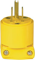 Cooper Wiring Devices 4867AN 3-Wire 125V/AC Vinyl Plug Yellow *