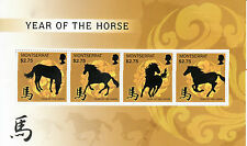 Montserrat 2014 MNH Year of Horse 4v M/S Lunar New Year Chinese Zodiac Stamps