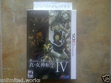 Shin Megami Tensei IV 4 Limited Collector's Edition Box Set Nintendo 3DS New