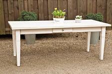 Esstisch Massivholz Landhaustisch Esszimmer Küchentisch 180 cm M01 shabbyweiß