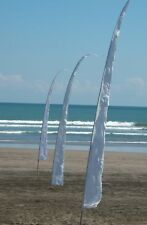 30 x 5M WHITE Bali Flags for Wedding / Event.