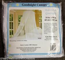 White Bed Canopy Mosquito Netting with Hook Good Night Moon Stars Canopy