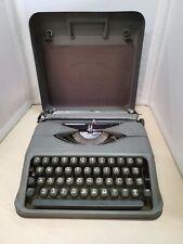 Vintage Generic Grey Typewriter in Case - 25D